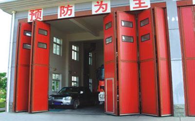 厂房工业折叠门安装